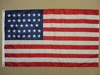 U.S. 34-Star Union Civil War Indoor Outdoor Nylon Historical Flag Grommets 3'X5'
