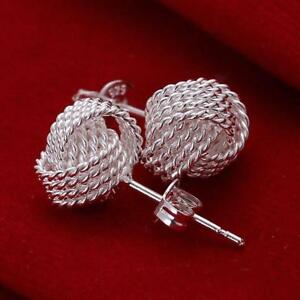 HOT Women 925 Sterling Silver Crystal Rhinestone Ear Stud Vintage Earrings Gift