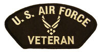 USAF AIR FORCE VETERAN W/ HAP ARNOLD WINGS SYMBOL LOGO PATCH AIRMAN