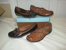 Life Stride Shoe Lot 6M Cyclone Navy/Tan waterproof & Tan Mary Jane's Brown leat