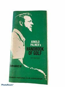 VINTAGE ARNOLD PALMER HANDBOOK of GOLF Booklet 1971 Illustrations Masters Stats
