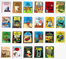 Tintin Hergé 23 NEW hardback books near complete collection FREE WORLD SHIPPING