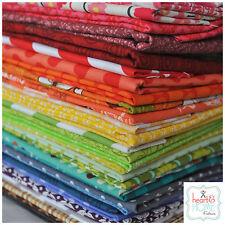 Designer Fabric Scrap Bag Rainbow, over 2 yards total, 100% cotton fabric