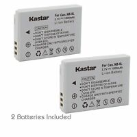 2x Kastar Battery for Canon NB-5L PowerShot SX200 IS SX210 IS SX220 IS SX230 HS