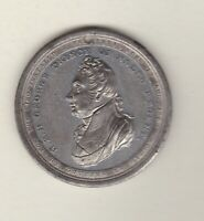 1811 GEORGE PRINCE OF WALES APPOINTED REGENT WHITE METAL MEDAL.