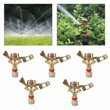 "5Pack 3/4"" Water Impact Sprinkler Full Circle Garden Lawn Grass Irrigation Head"
