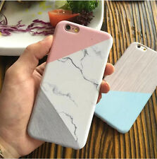 Granite Marble Contrast Color PC Hard Phone Cover Case for iPhone 6 6S 7 7 Plus