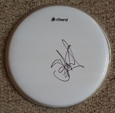 """Stuart Copeland 'The Police', hand signed in person 10"""" drum skin."""
