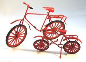 Miniatur Fahrrad / Tandem Metall 2 Größen 5 Farben Dekofigur Sport Geldgeschenk