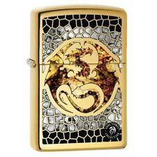 Zippo 0057 Anne Stokes-Dragon Fusion High Polish Brass Finish Lighter