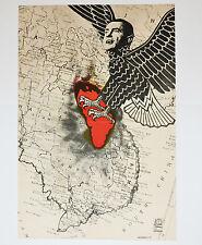 1971 Original Cuba Political Poster.Cold War Graphic Propaganda.Nixon Vietnam