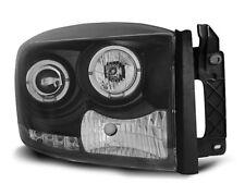 Paire de feux phares Dodge Ram 06-08 angel eyes noir (O06)