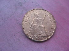 THE LAST 1967 BRITISH ONE PENNY COIN UNC LUSTRE 50th BIRTHDAY PRESENT