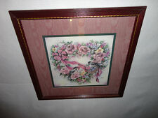 Home Interiors ''Chickadees in Heart Floral Wreath '' Picture  Gorgeous  SALE