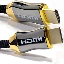 Braided Ultra HD HDMI v2.0 Cable High Speed + Ethernet 3D 4k 2160p HDTV HQ 5M
