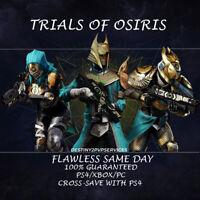 Destiny 2 Trials Of Osiris Flawless Same Day Ps4/Xbox/Pc