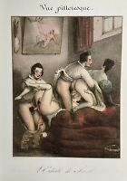 Erotic Nude Sex Penis Breast Vagina Antique Love Art Ora Lithography France 1830