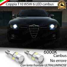 COPPIA LUCI POSIZIONE 6 LED CANBUS CON LENTE ALFA ROMEO 159 NO ERROR