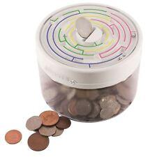 Maze Puzzle White Money Safe Childrens Piggy Bank Coin Box Kids Brain Game Gift