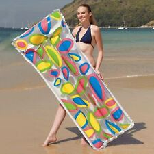 FLOWER BEACH AIR MAT SWIMMING POOL INFLATABLE LILO LOUNGER