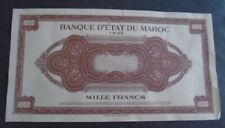 MOROCCO MAROC, P 28 ,  1000 Francs 1943 PROOF Specimen , 2 notes about UNC