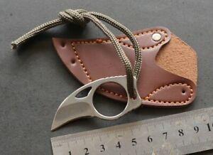 Mini Pocket Karambit Knife Portable EDC Key Chain FIxed Blade Claw Pocket Knife