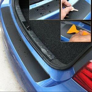 Car Rear Bumper Protector Guard Trim Cover Sill 4D Carbon Fiber Protect Sticker