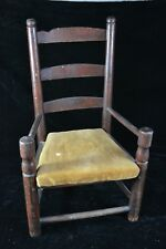 18th Century New England Child's Slat Back Potty Chair, Old Surface, Ladderback