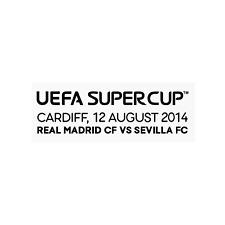 Real Madrid Supercup 2014 vs Sevilla Match Details MDT Home for Shirt Jersey