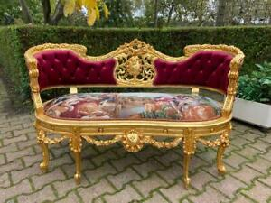 AMAZING DELUXE SOFA IN LOUIS XVI STYLE. WORLDWIDE FREE SHIPPING