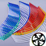 "Motorcycle Car Wheel Rim 16 Reflective Strips 17""-19"" Stripe Tape Decal Stickers"