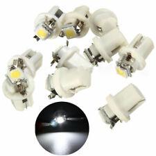 10PCS T5 B8.5D White Car Gauge 5050 1SMD LED Dashboard Dash Side Light Bulb 12V
