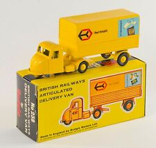 Budgie 238 British Railways Articulated Delivery Van. Lt. Yellow. Boxed 1984