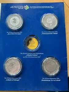Offizielle Sammlung der deutschen Gedenkausgaben der FIFA WM 2006 (4x 10 EUR)