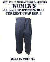USAF SLACKS WOMEN'S 16WL AIR FORCE DRESS BLUE AF 1620 US MILITARY PANTS CURRENT