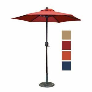 6ft Patio Umbrella/Outdoor Table Umbrella, with Sturdy Ribs & Crank, Four Colors