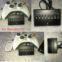 Black Wireless Wired Controller Turbo Adapter Converter for Xbox 360 to PS3 VS