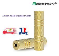 Adaptateur Coupleur Jack - 3,5mm FEMELLE / FEMELLE stéréo OR