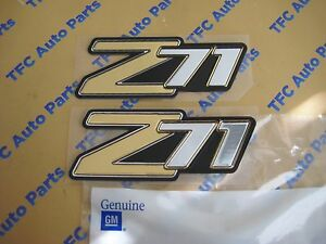 2 Chevy Suburban Tahoe Z71 Emblem Badges Side or Rear Genuine OEM New