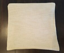 Authentic Ralph Lauren Beige and White Queen Size Coverlet Bed Blanket