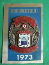 1973 MEXICO CITY DEPARTAMENTO DEL D.F POLICIA MEXICAN OBSOLETE POLICE BADGE
