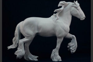 Traditional Size Unpainted Artist Resin Clydesdale, FALKIRK