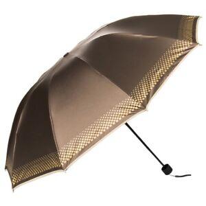 Women Umbrella Parasol Compact Folding Windproof Waterproof Anti-uv Sun Rain US