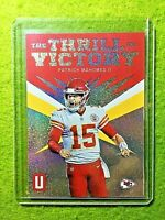 PATRICK MAHOMES PRIZM CARD JERSEY #15 CHIEFS  2019 Unparalleled INSERT REFRACTOR