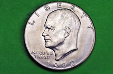 1972-D  Brilliant Uncirculated Eisenhower US One Dollar Coin (c/n clad)