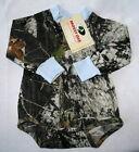 Mossy Oak Camo Blue Baby Diaper Shirt, Boy Camouflage Long Sleeve Snap
