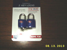 TSA Lock Travel Sentry Approved blue AMERICAN TOURISTER Luggage Lock 2PC BLUE