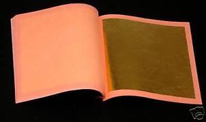 25 Blätter transfer GOLD ECHTES REINES BLATTGOLD 24 KARAT leaf vergolden gild