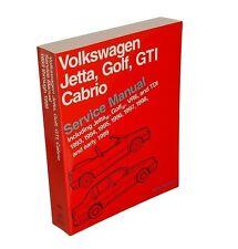 Fits Volkswagen Cabrio Golf Jetta Repair Service Paper Manual Bentley VW8000116