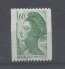 FRANCE TIMBRE ROULETTE 2222a N° rouge au verso LIBERTE vert - LUXE **